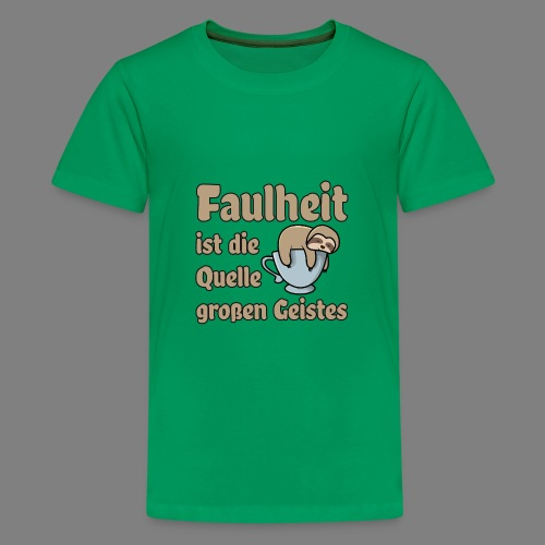 Faulheit - Teenager Premium T-Shirt