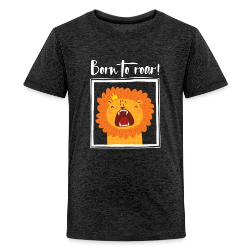 born to roar frame white - Teenager Premium T-Shirt