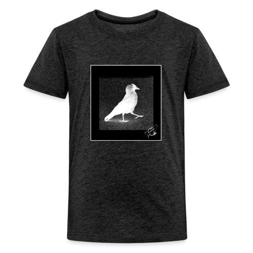 Cool Jackdaw by BlackenedMoonArts, w. logo - Teenager premium T-shirt