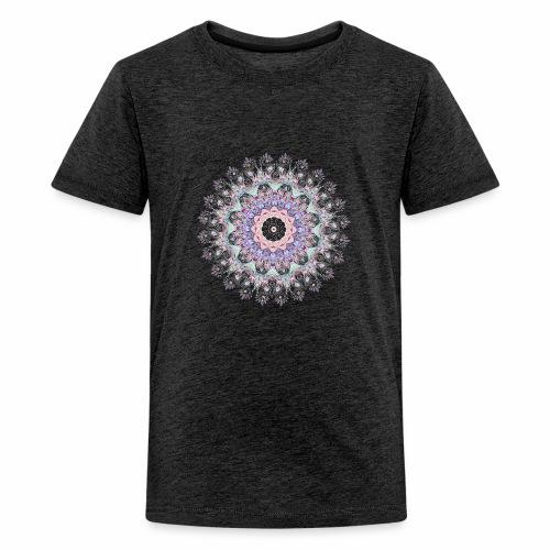 Hvid mandala - Teenager premium T-shirt