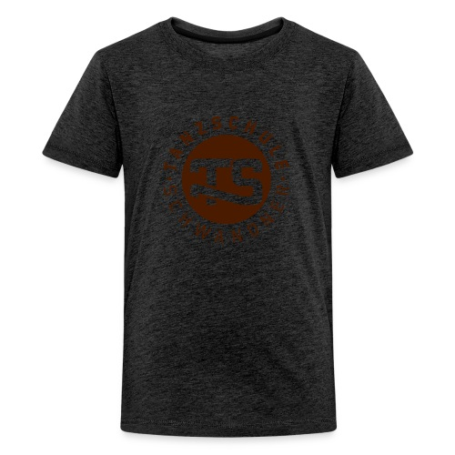 logo ts mit text 2farben - Teenager Premium T-Shirt