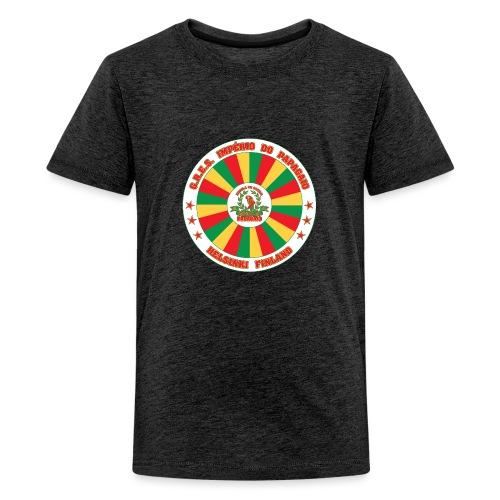 Papagaio drum logo - Teinien premium t-paita