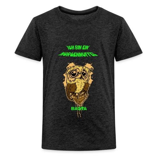 Eulenmotiv für Morgenmuffel - Teenager Premium T-Shirt