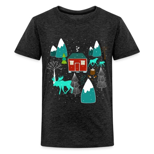 Weihnachten Elch I Geschenk Winterstimmung - Teenager Premium T-Shirt