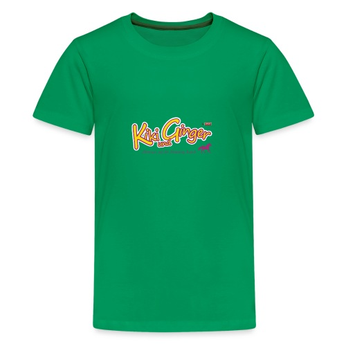 patame Kiki und Ginger Logo mit Pferd - Teenager Premium T-Shirt