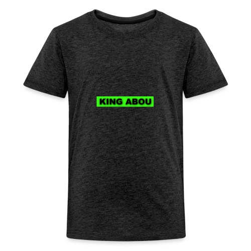 2560x1440 neon green solid color background - Teenager Premium T-shirt