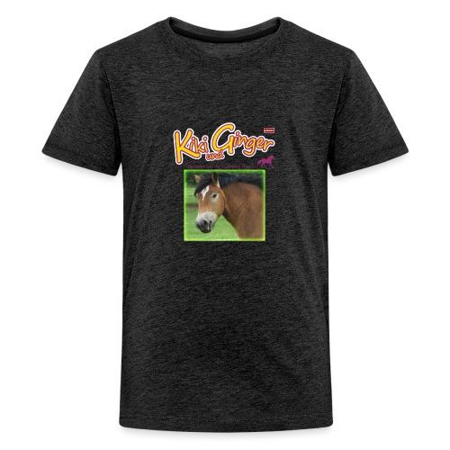 patame Kiki und Ginger mit Golden Sky grün - Teenager Premium T-Shirt