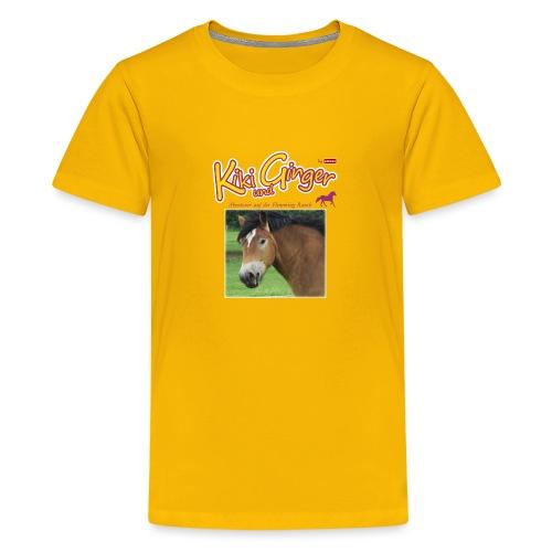 patame Kiki und Ginger mit Golden Sky weiss - Teenager Premium T-Shirt