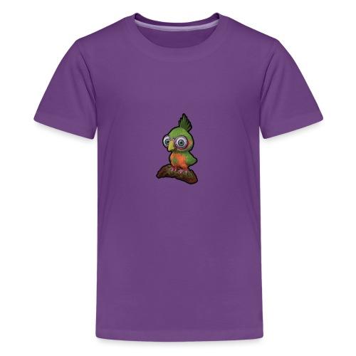 A bird sitting on a branch - Teenage Premium T-Shirt