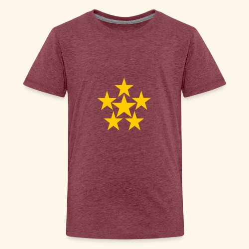 5 STERN gelb - Teenager Premium T-Shirt