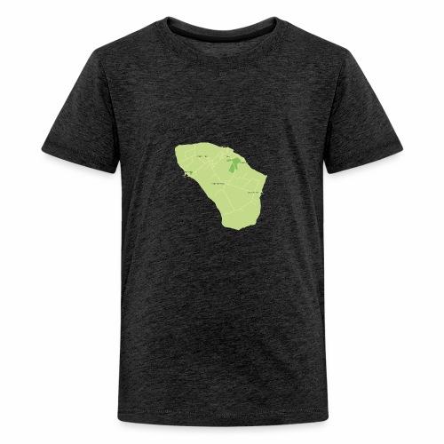 Hven den skønne ø mellem Sverige og Danmark - Teenager premium T-shirt