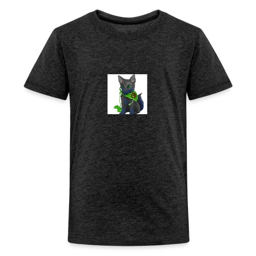 Wolfie Plays Gaming - Teenage Premium T-Shirt