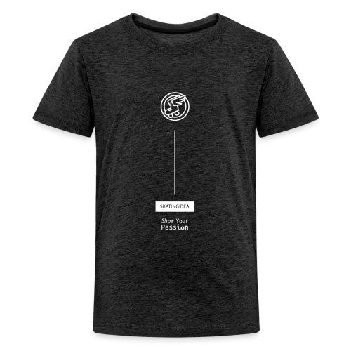 skatingidea logo white - Maglietta Premium per ragazzi