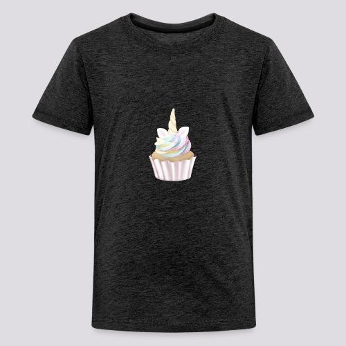Unicorn Cupcake - Teenage Premium T-Shirt