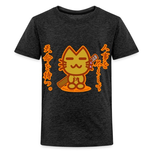 Samurai Cat - Teenage Premium T-Shirt