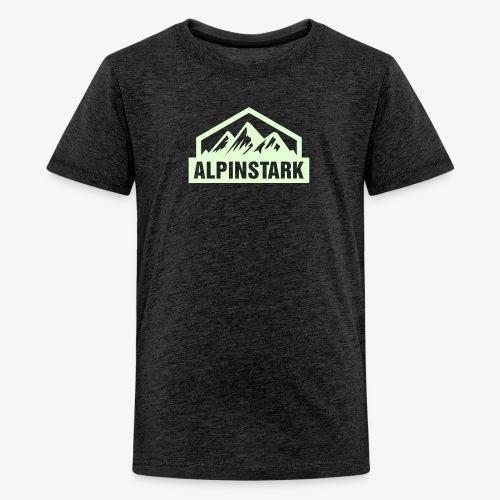 Alpinstark Half Logo klei - Teenager Premium T-Shirt