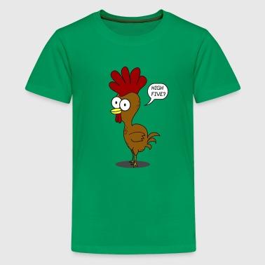 High Five kyckling - Premium-T-shirt tonåring