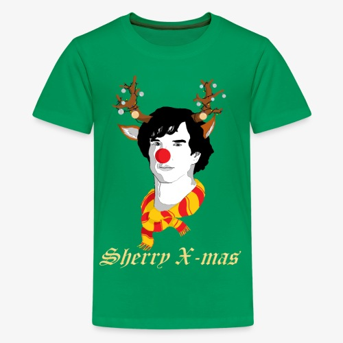 Sherlock Holmes reindeer editie - Teenager Premium T-shirt