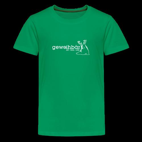 geweihbär - weiss - Teenager Premium T-Shirt