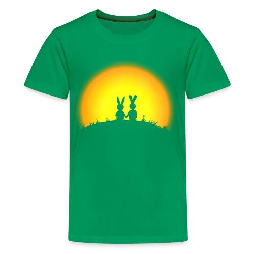 hase kaninchen Karnickel häschen bunny liebe - Teenager Premium T-Shirt