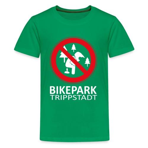 Waldscheißer in weiß rot - Teenager Premium T-Shirt