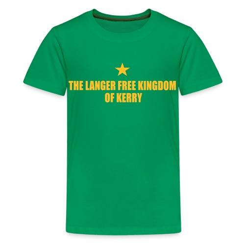kerry langer free - Teenage Premium T-Shirt