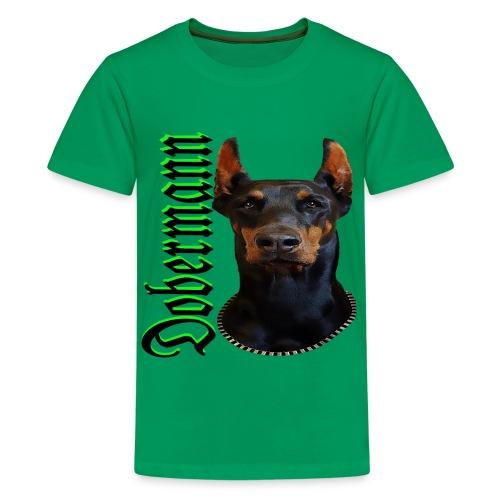 Dobermann Hundekopf Hundesport Hundeliebhaber Hund - Teenager Premium T-Shirt