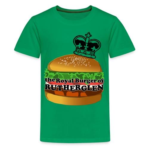 Royal Burger of Rutherglen - Teenage Premium T-Shirt