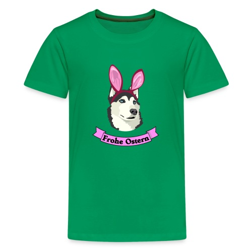 Frohe Ostern - Husky - Teenager Premium T-Shirt