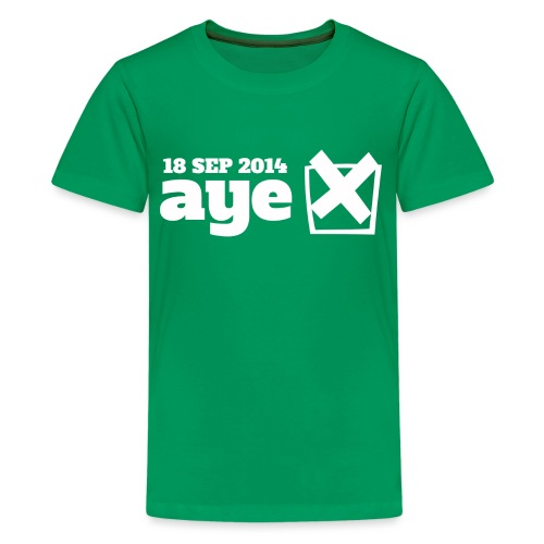 Vote Aye - Teenage Premium T-Shirt