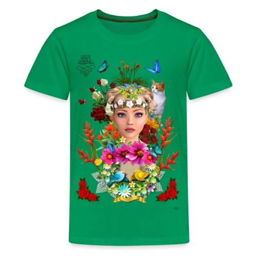 Lady spring -by- t-shirt chic et choc - T-shirt Premium Ado
