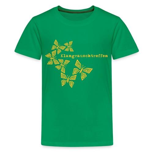 KlangRauschTreffen Schmetterlinge mit Schrift - Teenager Premium T-Shirt