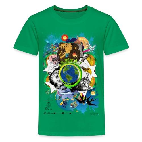 Terre Mère Nature (Fr) -by- T-shirt chic et choc - T-shirt Premium Ado