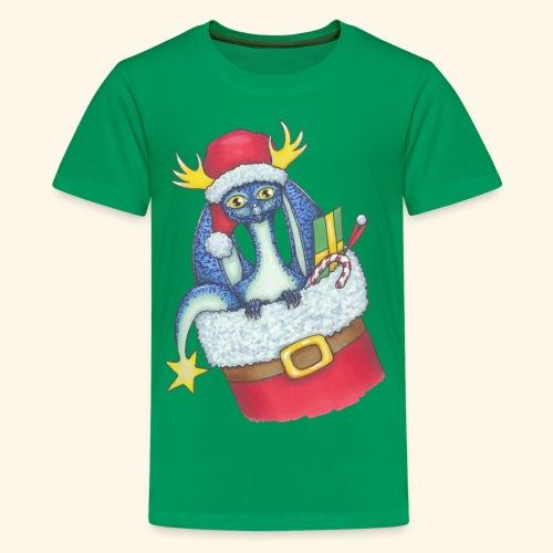 Juldrake - Premium-T-shirt tonåring