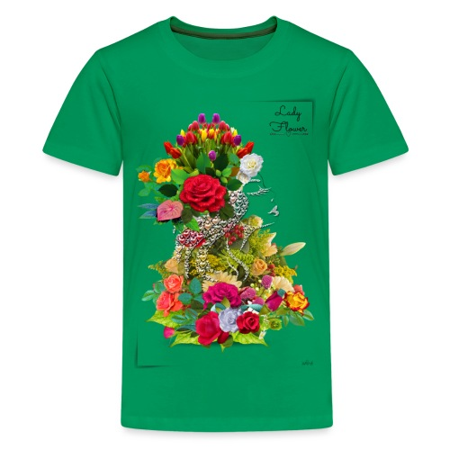 Lady flower -by- T-shirt chic et choc - T-shirt Premium Ado