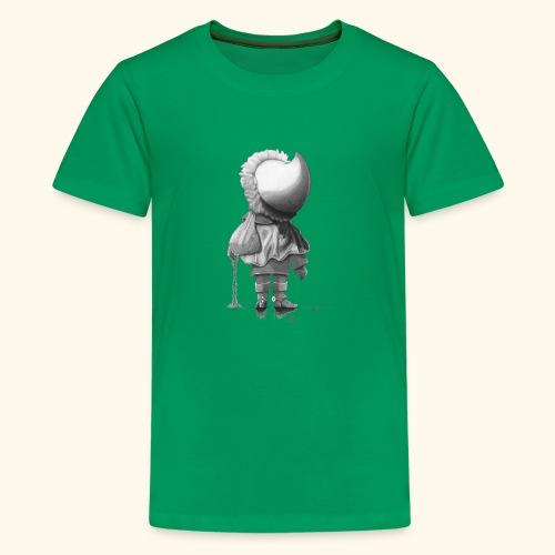 Unser Sandmännchen von hinten - schwarz - Teenager Premium T-Shirt