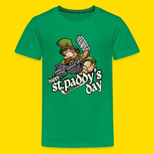 St Paddy´s Shirt Eishockey T-Shirt - Teenager Premium T-Shirt