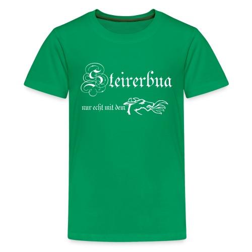 steirerbua w - Teenager Premium T-Shirt