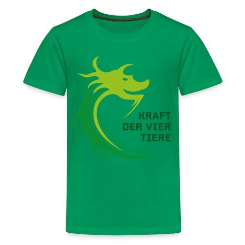 LoPi Kraft der vier Tiere - Teenager Premium T-Shirt