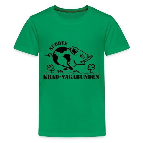 Krad-Vagabunden Glücksschwein V2 - Teenage Premium T-Shirt