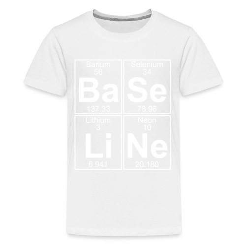 Ba-Se-Li-Ne (baseline) - Full - Teenage Premium T-Shirt
