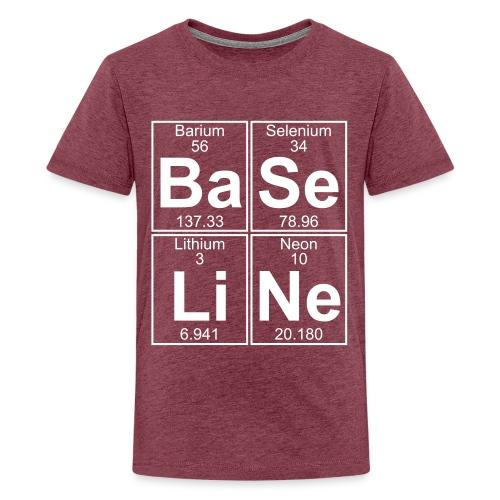 Ba-Se-Li-Ne (baseline) - Full - Teenage Premium T-Shirt