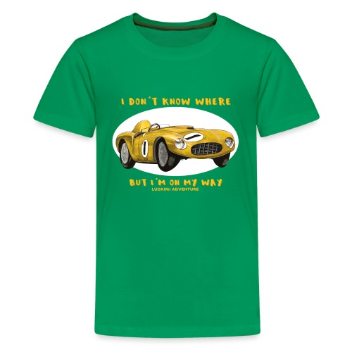 Happy Car Yellow - Premium-T-shirt tonåring