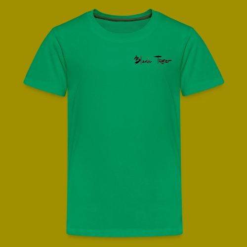 Black Tiger Name - Teenage Premium T-Shirt