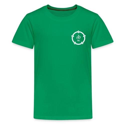 HKPT logotuote huutopainatuksella - Teinien premium t-paita
