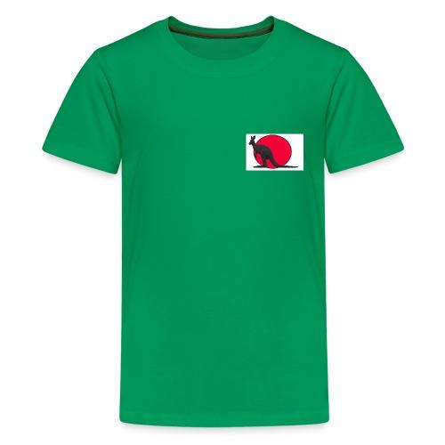 Silhouette Canguro2 - Maglietta Premium per ragazzi