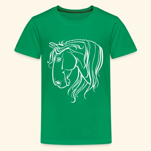 Cheval espagnol (blanc) - T-shirt Premium Ado