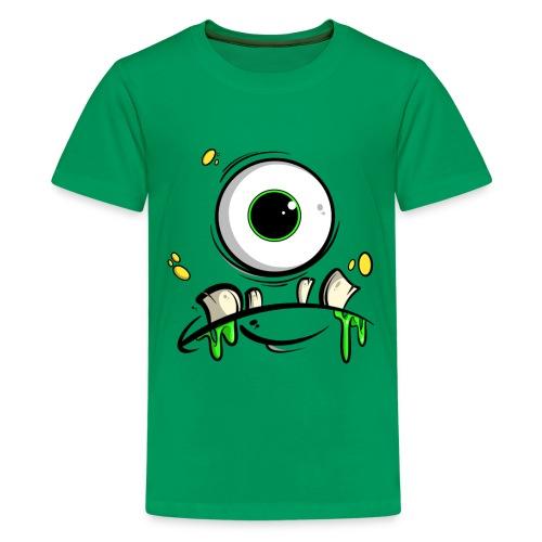 Monster Gesicht - Teenager Premium T-Shirt