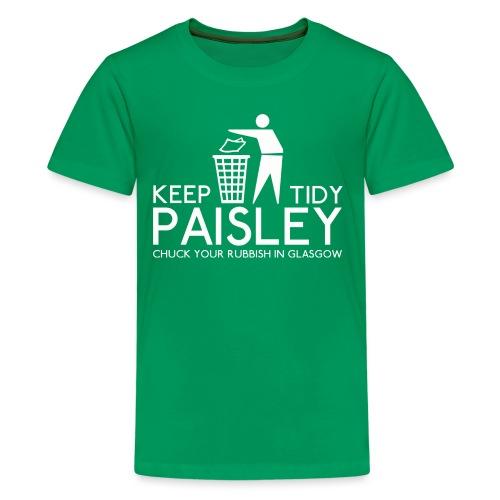 Keep Paisley Tidy - Teenage Premium T-Shirt