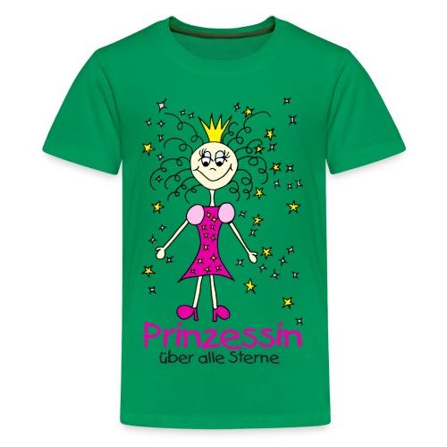 Prinzessin ueber alle Sterne - Teenager Premium T-Shirt